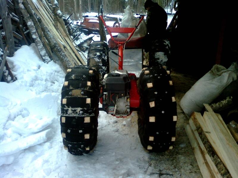Как сделать снегоход из мотоблок